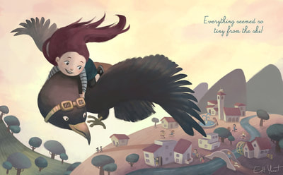 flying kid, children's illustration book